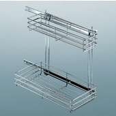 Chrome Wire Kitchen or Vanity Undersink Pull-Out Storage Unit, Min Cab Opening: 9'' W x 18-1/2'' D x 16-9/16'' H