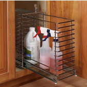 Häfele Kitchen Cabinet Lockable Pull-Out Storage Cage, 8''W x 17''D x 17-3/8''H, Min Cab Opening: 11-4/5''W