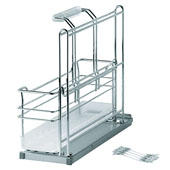 Kitchen or Bath Sink Caddy with a Removable Basket, Polished Chrome