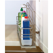 Kitchen or Bath Sink Caddy with a Removable Basket, Champagne, Min Cab Opening: 6-3/8'' W x 19-1/2'' D x 15-3/4'' H