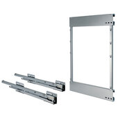 Comfort II Soft Close Base Pull-Out Full Extension Frame, Right, 662mm (26-1/16'' H), Silver RAL 9006