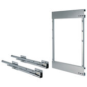 Comfort II Soft Close Base Pull-Out Full Extension Frame, Right, 502mm (19-3/4'' H), Silver RAL 9006