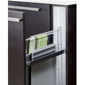 Kitchen Cabinet Base Pull-Out Organizer with Towel Rail, Min Cab Opening: 4-1/2'' W x 19'' D x 23-1/4'' H