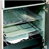 Metal Storage Rack, Steel, Chrome-plated, 457mmW x 260mmD (18''W x 10-1/4''D)
