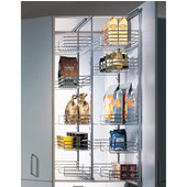 Häfele Pantry Pull-Out in Silver, 19-3/4''D x 45-3/4'' - 58-7/8''H