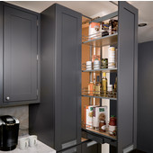 Dispensa Pantry Pull-Out, Full Extension Pantry Frame, Silver Finish, Different Sizes Available