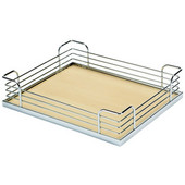Arena Plus Tray Set (4 Trays), 14-7/8'' W x 12'' D x 3-1/2'' H, Chrome/Maple, Min Cab Opening: 15''W x 12''D x 3-1/2''H