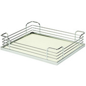 Arena Plus Tray Set (4 Trays), 14-7/8'' W x 12'' D x 3-1/2'' H, Chrome/White, Min Cab Opening: 15''W x 12''D x 3-1/2''H