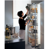 H�fele Pull-Out & Swing Pantry Frame in Silver 70-7/8-78'' Installed Height, Min Cab Opening: 10-5/16''W x 20''D x 70-7/8''H