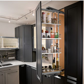 Häfele Pull-Out & Swing Pantry Frame in Silver, Different Sizes Available