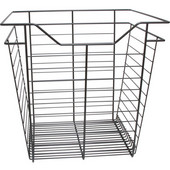 Dark Oil-rubbed Bronze Closet Basket with Slide, 1 basket, Available in Different Sizes