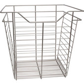 Matt Nickel Closet Basket with Slide, 1 basket, Available in Different Sizes