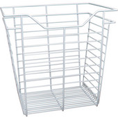 White Closet Basket with Slide, 1 basket, Available in Different Sizes