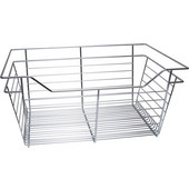 Chrome Closet Basket with Slide, 1 basket, Available in Different Sizes