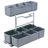 Base Pull-Out Cleaning Caddy, Gray, 10-3/16''W x 18-5/8''D x 18-9/16''H, Min Cab Opening: 10-1/2''W x 18-5/8''D x 19''H