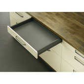 Moovit Matrix Double-Wall Drawer System with Drawer Slide and Side Profiles, Anthracite, 110 lbs., 10-5/8'' (270mm)