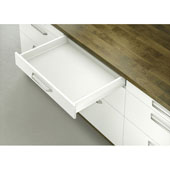 Moovit Matrix Double-Wall Drawer System with Drawer Slide and Side Profiles, White, 110 lbs., 25-9/16'' (650mm)