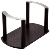 ''Fineline'' Plate Holder with S/S Handle, Black Ash, 13-3/8'' W x 7-1/16'' D x 7-1/16'' H