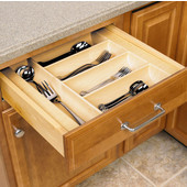 Cutlery Tray Insert For Cabinet Width (Face Frame) 15'' - 42'' Widths Available, Maple