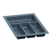 Sky Cutlery Tray, for 21'' Deep Drawer, Slate Gray, Plastic, Trimmable Width: 12-3/16'' - 13-3/4'' (310 - 350 mm)