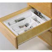Cutlery Tray Drawer Insert, 11-1/4''W - 13-3/4''W