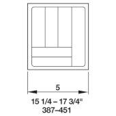 Cutlery Tray Drawer Insert, 15-1/4''W - 17-3/4''W