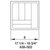 Cutlery Tray Drawer Insert, 17-1/4''W - 19-3/4''W