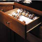 Spice Drawer Insert, Glossy White or Silver Available
