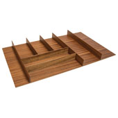 ''Fineline'' Large Cutlery Tray, Mahogany, 27-5/8''W x 16-11/16''D x 1-15/16''H