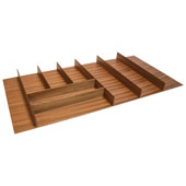''Fineline'' Large Cutlery Tray, Mahogany, 33-9/16''W x 16-11/16''D x 1-15/16''H