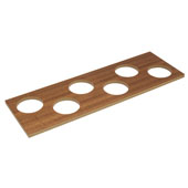 ''Fineline'' Container Holder with 6 Holes, Mahogany, 16-11/16''W x 5-7/16''D x 7/16''H