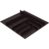 ''Fineline'' Small Cutlery Tray, Black Ash, 21-9/16'' W x 20-13/16'' D x 1-15/16'' H, For Cabinet Width 24'' W