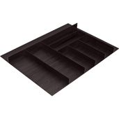 ''Fineline'' Large Cutlery Tray, Black Ash, 27-5/8'' W x 16-11/16'' D x 1-15/16'' H, For Cabinet Width 30'' W