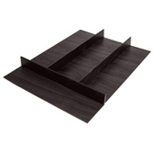 ''Fineline'' Multipurpose Cutlery Tray Insert, Black Ash, 15-9/16'' W x 20-13/16'' D x 1-15/16'' H, For Drawer Width 18'' W