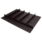 ''Fineline'' Multipurpose Cutlery Tray Insert, Black Ash, 27-5/8'' W x 20-13/16'' D x 1-15/16'' H, For Drawer Width 30'' W