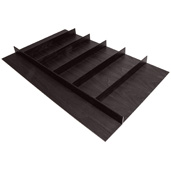 ''Fineline'' Multipurpose Cutlery Tray Insert, Black Ash, 33-9/16'' W x 20-13/16'' D x 1-15/16'' H, For Drawer Width 36'' W