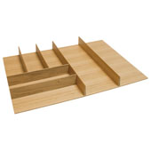 ''Fineline'' Small Cutlery Tray, White Oak, 21-9/16''W x 20-13/16''D x 1-15/16''H