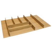 ''Fineline'' Large Cutlery Tray, White Oak, 27-5/8''W x 16-11/16''D x 1-15/16''H