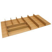 ''Fineline'' Large Cutlery Tray, White Oak, 33-9/16''W x 16-11/16''D x 1-15/16''H