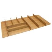 ''Fineline'' Large Cutlery Tray, White Oak, 33-9/16''W x 16-11/16''D x 1-15/16''H