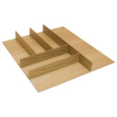''Fineline'' Small Cutlery Tray, White Oak, 15-9/16''W x 20-13/16''D x 1-15/16''H