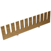 ''Fineline'' Plate Rack, White Oak, 18-13/16''W x 1/2''D x 4-3/4''H