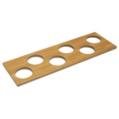 ''Fineline'' Container Holder with 6 Holes, White Oak, 16-11/16''W x 5-7/16''D x 7/16''H