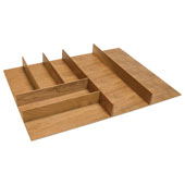''Fineline'' Small Cutlery Tray, Cherry, 21-9/16''W x 20-13/16''D x 1-15/16''H