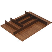 ''Fineline'' Small Cutlery Tray, Walnut, 15-9/16''W x 20-13/16''D x 1-15/16''H