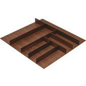 ''Fineline'' Small Cutlery Tray, Walnut, 21-9/16''W x 20-13/16''D x 1-15/16''H