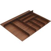 ''Fineline'' Large Cutlery Tray, Walnut, 27-5/8''W x 16-11/16''D x 1-15/16''H