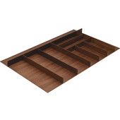 ''Fineline'' Large Cutlery Tray, Walnut, 33-9/16''W x 16-11/16''D x 1-15/16''H