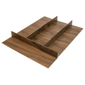 ''Fineline'' Multipurpose Cutlery Tray Insert, Walnut, 15-9/16''W x 20-13/16''D x 1-15/16''H