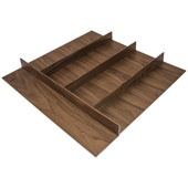 ''Fineline'' Multipurpose Cutlery Tray Insert, Walnut, 21-9/16''W x 20-13/16''D x 1-15/16''H